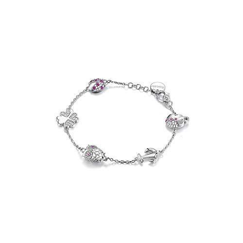 Bracciale rosato donna rsoa14 argento zirconia