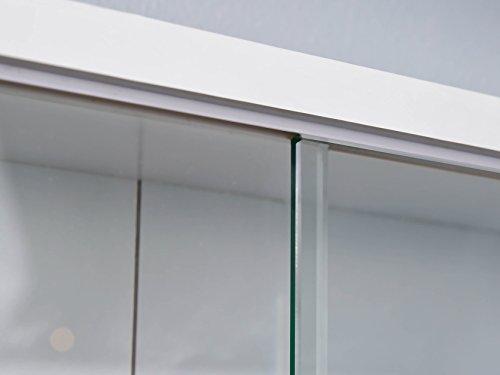 31oogETKMIL - Easy Home  Simply A20 -  Vitrina de  madera MDF y vidrio, Blanco