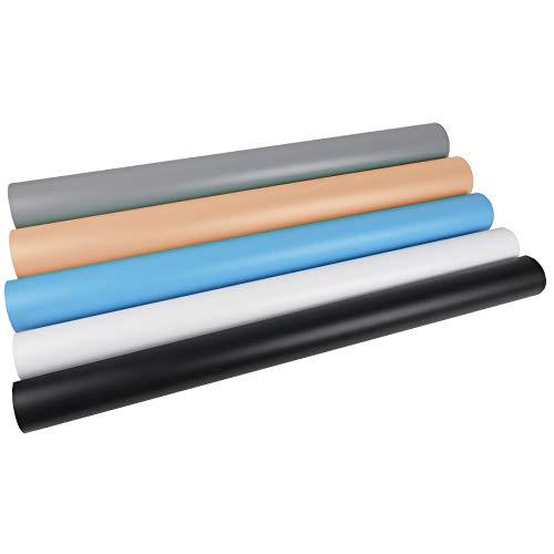 Oferta de Cablematic - Fondos de estudio de PVC de 130x68cm 5 colores