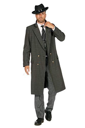 shoperama 20er Jahre Peaky Blinders Mafia Mantel Herren-Kostüm Oliv-Schwarz Babylon Berlin The Roaring Twenties 20's Mafiosi, Größe:60 (Roaring 20's Kostüm)