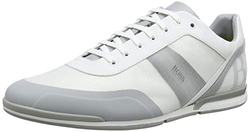 BOSS Athleisure Saturn_Lowp_act3 Scarpe da Ginnastica Basse Uomo, Bianco (White 100) 42 EU