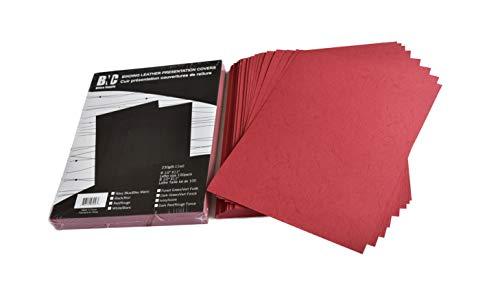 BNC Lederbinderücken Präsentationshüllen 100 Stück Briefgröße Letter Size rot -