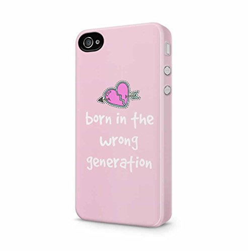 rn In The Wrong Generation Apple iPhone 4 / iPhone 4S SnapOn Hard Plastic Phone Protective Fall Handyhülle Case Cover (Cute Iphone 4s Fall)