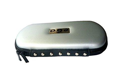 XL - XXL Ego Case, ego Etui, ego-T Transporttasche, Nieten Design, Silber leicht metallic-Schimmer, für ego`s und evod E-Zigaretten 650 - 1100 mAh