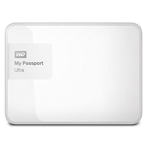 Wd My Passport Ultra 1tb Portable External Hard Drive, White (wdbgpu0010bwt-nesn) [new Model]