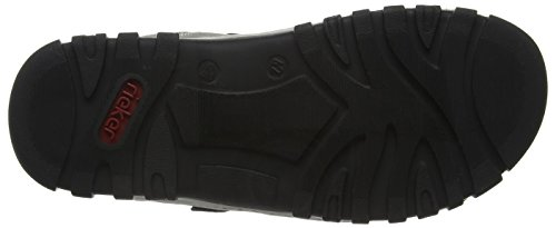Rieker 25051 Sandals-men Herren Sandalen Grau (cement/schwarz / 40)