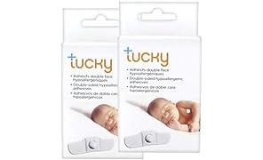 Pack di 2 scatole di adesivi per termometro Tucky - 2x15 adesivi ipoallergenici de doppia faccia.