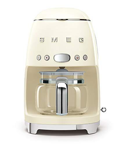 Smeg DCF01CREU - Caffettiera a filtro, colore: Crema