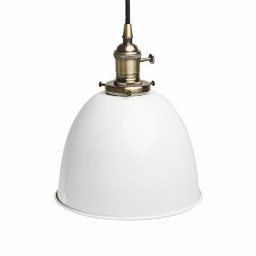 Pathson Industrie Loft-Pendelleuchte Antik Deko Design Metall Schirm innen Pendelleuchte Hängeleuchte Vintage Hängelampen Hängeleuchte Pendelleuchten (Weiß)