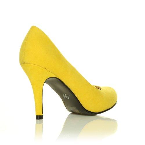 PEARL scarpe da donna tacco alto stiletto finto scamosciato scamosciate giallo