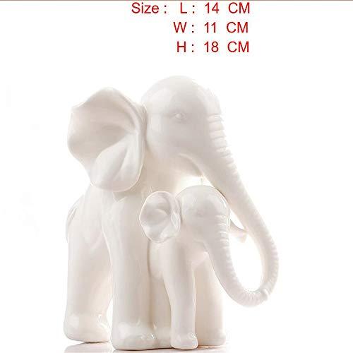 Porzellan Home Decor (Foanwm Keramik Elefant Home Decor Crafts Raumdekoration Keramik Ornament Porzellan Figuren Tierfiguren Dekoration)