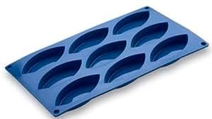 Moule à 9 petits gâteaux forme bateau - 100% silicone - 10x4,4cm par gâteau, ...