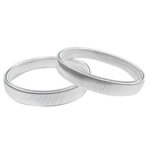 SUPVOX 2pcs Anti-Slip Shirt Sleeve Halter Metall elastische Armband Ärmel Strumpfband Armband (Shirt-ärmel-strumpfband)