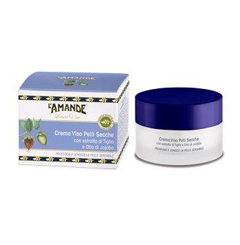 Crème visage peaux sèches avec tilleul et huile de jojoba 50 ml – Protège et lenisce la peau sensible