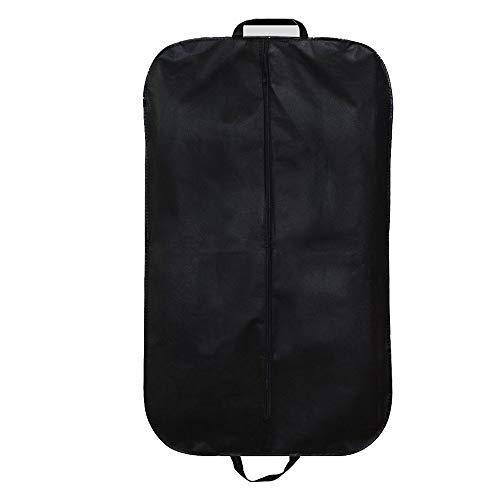 Aufbewahrungsbeutel Kleidungsstück Kleiderhüllen Taschen Atmungsaktiv Vlies Faltbar Staubdichter und formbeständiger Anzugsschutz mit Griffen, schwarzer Kleiderschutz für Abendkleid Reisen und Aufbewa