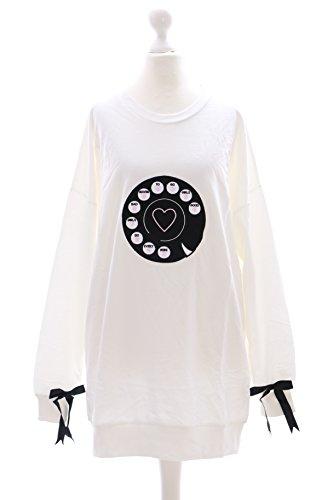 Preisvergleich Produktbild TS-09 weiß Telefon Schleife Lolita Pastel Goth Pullover Sweatshirt Harajuku Japan