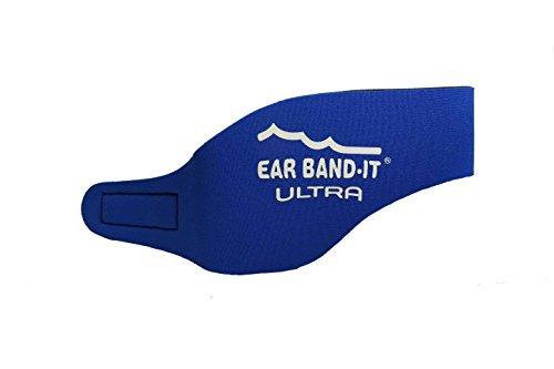 Ear Band-It - Bandas protectoras de oídos para natación azul azul Talla:large