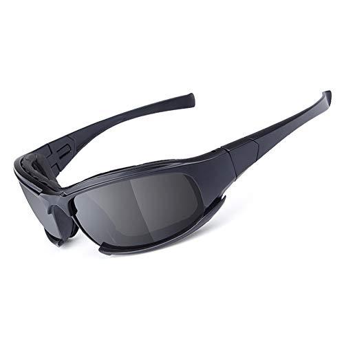 Motorrad reitenbrille Brille austauschbare 4 objektiv kit Outdoor-aktivität Sport Sonnenbrille schwarz mit Gurt für männer Frauen (Frauen Sonnenbrillen-gurt)
