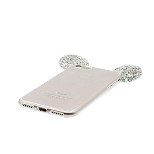 iPhone 6s Plus Custodia, iPhone 6 Plus Copertura Premium TPU Prezzo basso trasparente al silicone in iPhone 6S Plus case [Slim-Fit] [assorbimento di scossa]- conghiglia stelle # 1