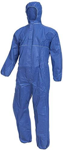 Nitras Polysafe Basic II - Chemikalien-Arbeitsanzug mit Kapuze - Blau - Gr. 2XL