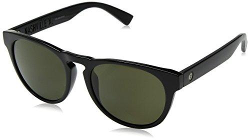 Electric Nashville XL Sunglasses One Size Ohm Polarized Grey ~ Gloss Black