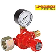 Rothenberger 032100E - Regulador de gas propano industrial (0,5-4 bar,