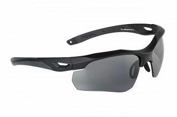 Preisvergleich Produktbild Swiss Eye Skyray Sonnenbrille 2 Austauschbare Objektive Schwarz Gummirahmen