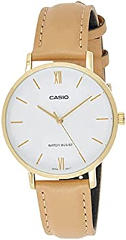 Casio Womens Quartz Dress Watch, Analog and Leather- LTP-VT01GL-7BUDF