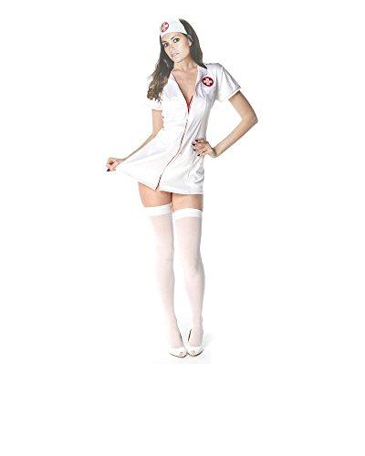 Krankenschwester-reizvolle Wäsche-Abendkleid 2 Stück Kostüm-Ausstattungs-Weiß Große