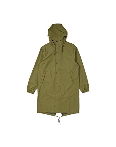RAINS Unisex Fishtail Parka Green in Size Small/Medium -