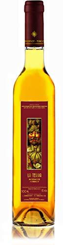 La Terre | Bio edel Dessertwein süß | Sortenrein Muscat Limnou | Aus kontrolliert biologischem Landbau auf vulkanischem Boden | Naturreiner Restsüße - Premium Qualität | 500ml Glasflasche