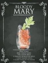 Dekorative Art Wand Bloody Mary-Registrieren Metall Türschild -