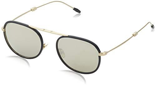 Armani Herren 0AR6064Q 30025A 52 Sonnenbrille, Matte Pale Gold/Black/Lightbrownmirrordarkgold