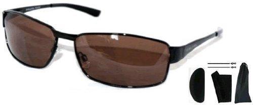 lunettes-de-soleil-homme-monture-noire-verres-marron-polarises-etui-chiffon-de-nettoyage-pochette-et