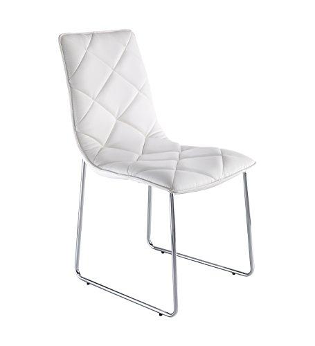 Wink design -Guaynabo - pièce de 4 chaises blanches - simili-cuir