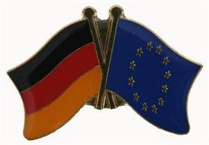 Yantec Freundschaftspin Deutschland-Europa Pin Flagge