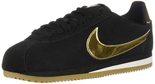 timeless design abdd0 482fb Nike Wmns Classic Cortez SE, Scarpe Running Donna, Multicolore  (Black/Metallic Gold