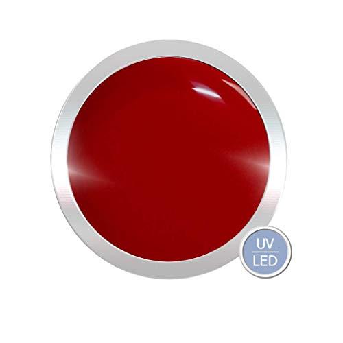 Farbgel für Gelnägel 5ml | UV LED Nagelgel Farbe: Tomato/Rot | Gel hochpigmentiert | Nageldesign wie im Nagelstudio -