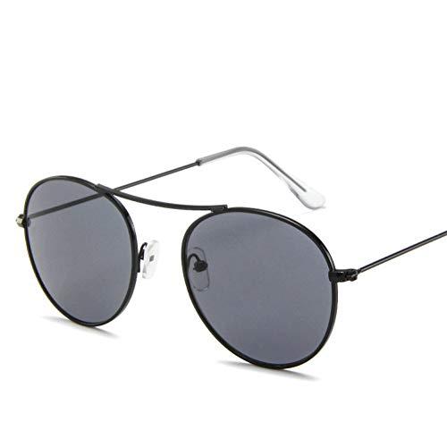 GBST Fashion Women Sunglasses Famous Oval Sun Glasses Female Luxury Metal Round Rays Frames Black Small Eyewear,A2