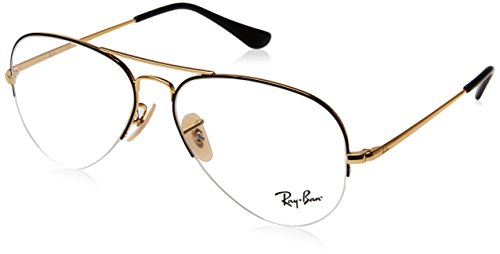 Ray-Ban Unisex-Erwachsene 0rx 6589 2946 56 Brillengestelle, Schwarz (Gold Top Black),