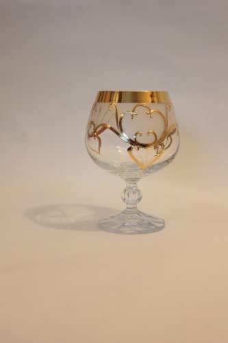 Bohemia Crystal Cognacschwenker Brandyglas Claudia 6 Er Set 250 Ml Edles Geblasene Kristall Mit Gold Und Gravur Bleikristall 24