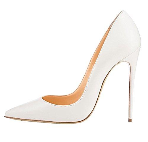 EDEFS Damen High Heels Pump Klassische Sexy Prom Hochzeit Frauen Schuhe White Größe EU35 Sexy Stiletto Heel Prom Schuhe