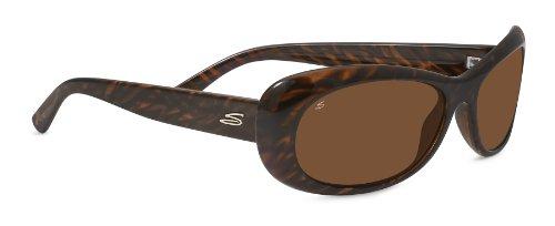 Serengeti Eyewear Sonnenbrille Bella, Dark Brown Stripe Tortoise, M, 7910