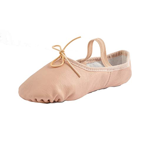 Baysa Leather Full Sole Ballet Dance Slipper (Toddler/Little Kid)