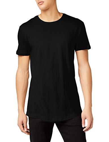 Urban Classics Herren T-Shirt Shaped Long Tee, Schwarz (Schwarz), TB638, 5XL