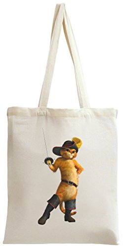 Shrek Puss In Boots Tote Bag