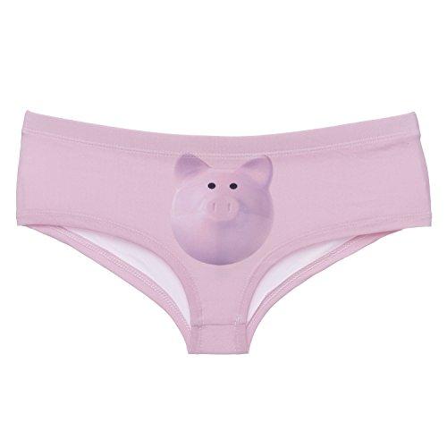 Funny Panties Company© Stampa 3D Mutandine Stampare/Motivo/Design Taglia Unica Unisex Primavera Estate 2017 PIGGYBANK 41106