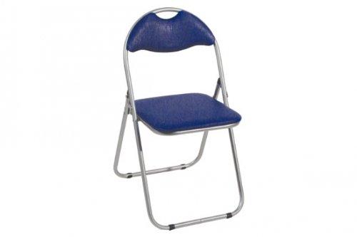 Haku-Möbel Klappstuhl Praktik Gestell Alu - Sitz/Rücken: Blau