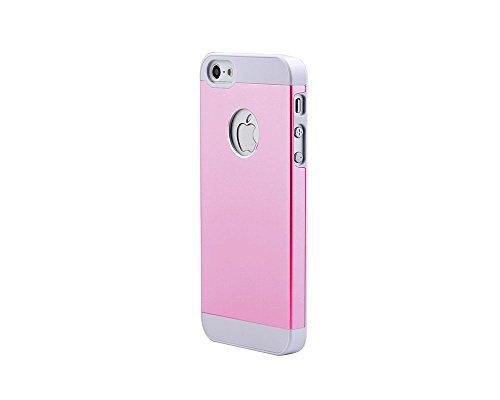 iPhone SE Case,iPhone 5 5s Cover,Besta Nouveau Combo Housse de protection Arrivée Ultra mince Metal Aluminium Case Cover Shell Back + Cadre PC Bumper Inner Case pour iPhone SE/iPhone 5 5s-Rose Gold A/Pink