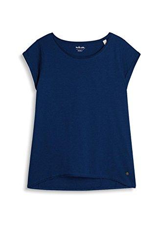 Esprit 027ee1k007, T-Shirt Femme Bleu (Dark Blue 4)